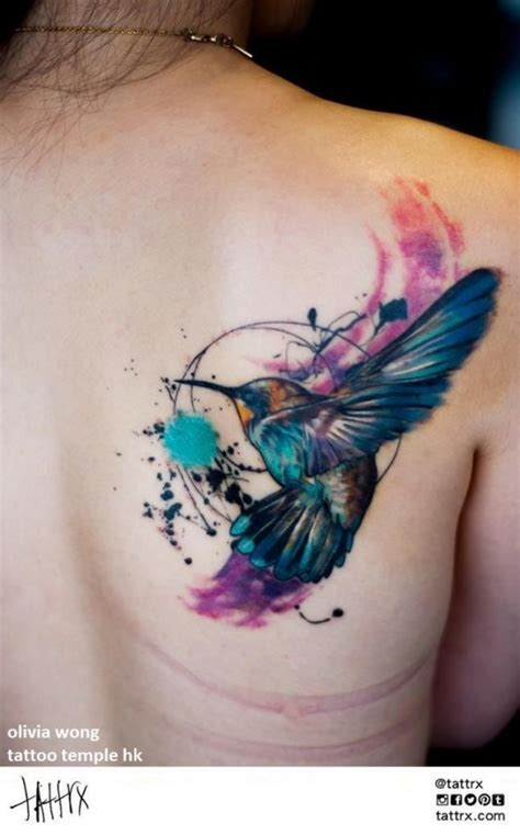 watercolor tattoo kolibri tons of stunning hummingbird and designs