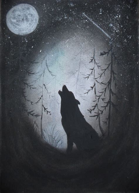 Wolf And Moon wolf and moon by voubs