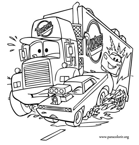 coloring pages cars mack cars movie truck mack coloring page