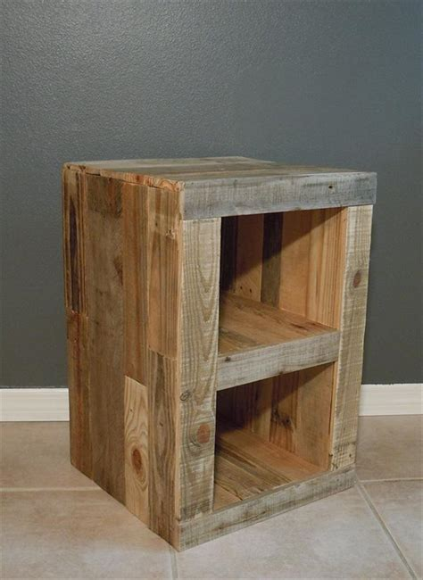 diy bedroom table diy pallet nightstand and bed pallet furniture plans
