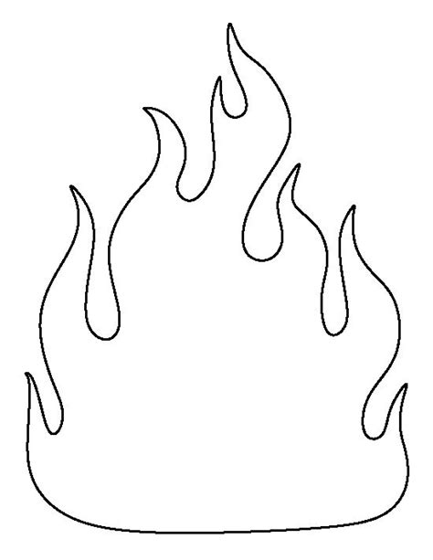 fire pattern use the printable outline for crafts