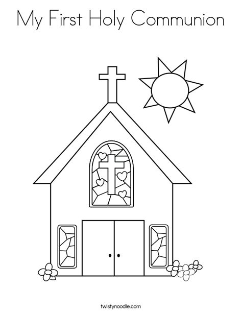 my first holy communion coloring page twisty noodle