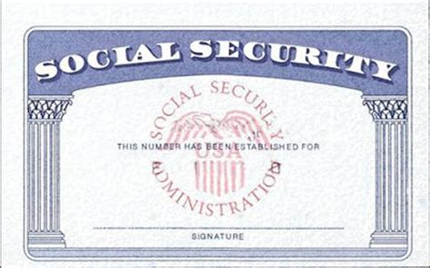 Social Security Number Lookup Free Editable Social Security Card Template Olycudaxe