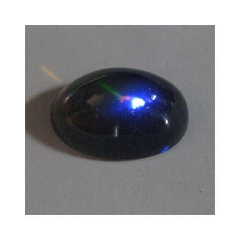 Cincin Black Sapphire 65 batu black opal asli jarong floral neon blue cabochon 2 65