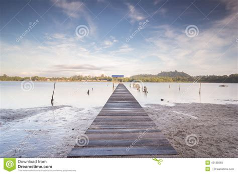village jetty stock photo image 64063688 jetty with village view at borneo