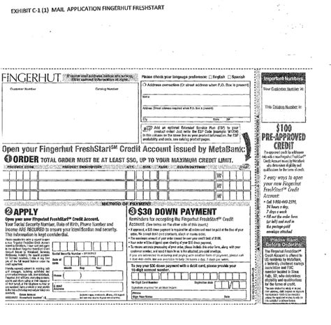 Credit Application Form For Edgars Image
