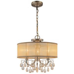 gold drum chandelier hton 3 light 14 quot antique brass mini chandelier