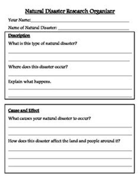 Geography KS2 Resources - Natural Disasters Printable