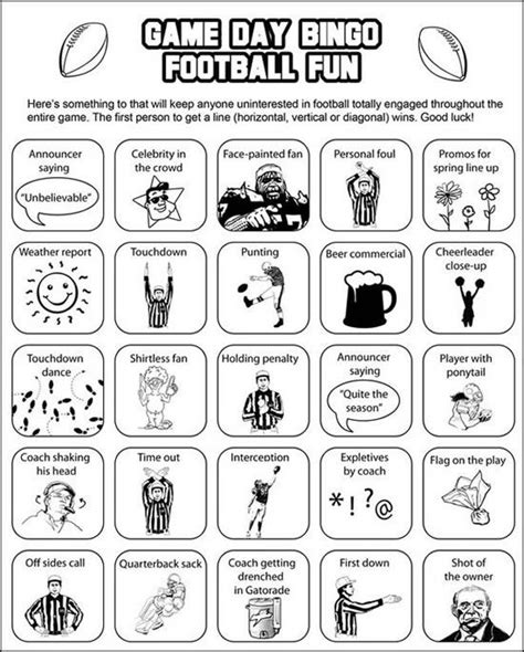 printable bowl games printable super bowl bingo cards to keep you interested in
