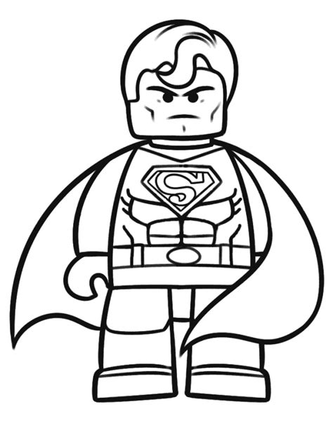 free coloring pages of lego marvel super hero
