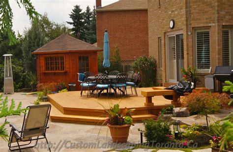 landscape deck patio designer landscaping and patio deck design toronto landscaping