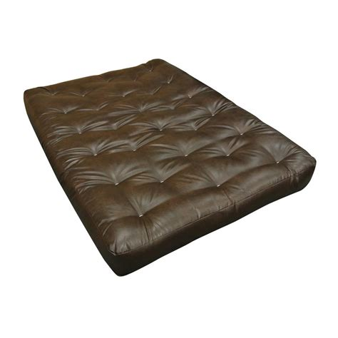cotton futon gold bond 611 queen 8 in foam and cotton leather futon
