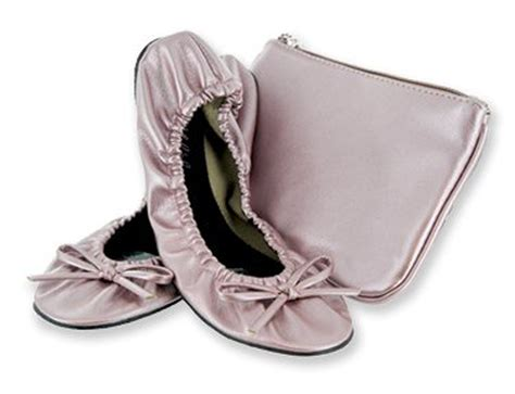 foldable slippers in a bag sidekicks blush pink foldable travel ballet flat shoes