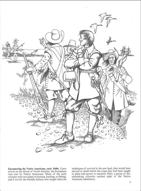 in colonial america coloring book additional photo