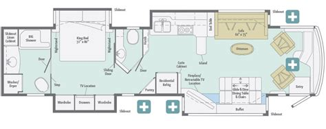 grand floor plans 2016 winnebago grand tour 42hl roaming times