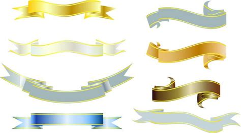 kinds  ribbons  vector  vector vector