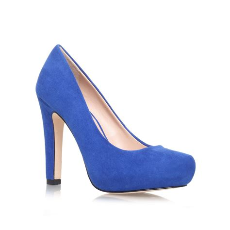 blue high heel boots miss kg high heel court shoes in blue lyst