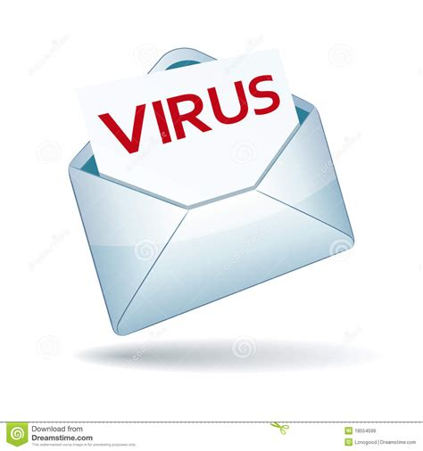 Email From A Vire virus email icon stock vector image of email envelope