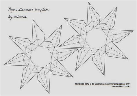 Origami Paper Template - 3d paper origami the idea king