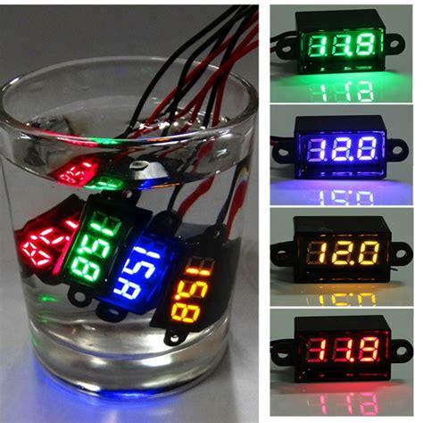 Sale Mini Volt Meter Dc 2 5v 30v Digital Voltmeter Display 2 Kabel waterproof 0 28inch dc 3 5 30v mini digital led voltmeter for 12v car moto sale banggood