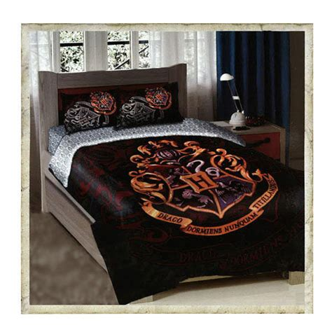 harry potter queen bed set hogwarts crest twin full size comforter bedding set on