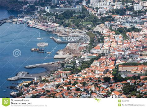 Free Download Residential Building Plans aerial cityscape from the port area of funchal madeira