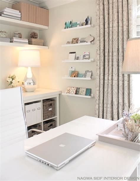 Office Shelf Decorating Ideas Nsinteriordesign White Narrow Shelves In White Home Office Decorating Ideas