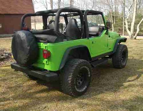Neon Green Jeep Purchase New 2001 Jeep Wrangler 4 0l Neon Green Lifted