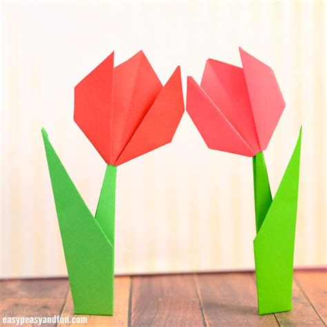 Tulip Origami Easy - how to make origami flowers origami tulip tutorial with