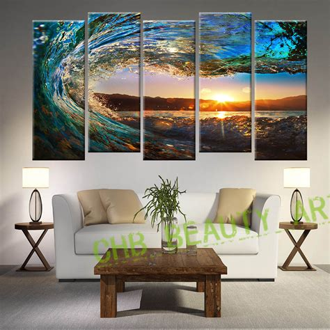 bedroom canvas aliexpress buy 5 panel seascape painting modern