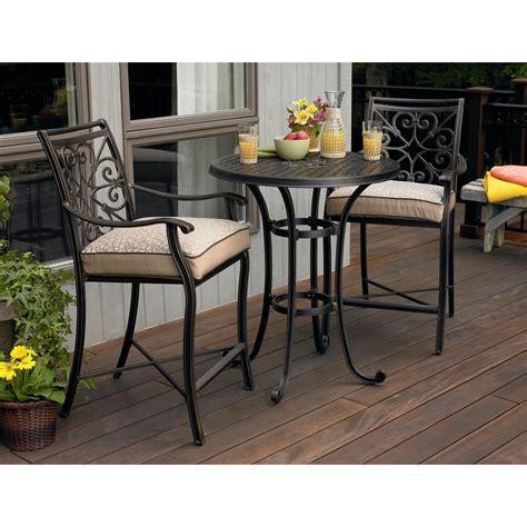 furniture traditional bar height patio set  stylish  comfortable patio ideas