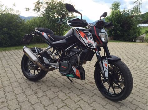 duke 125 dekor 2014 ktm 125 duke akrapovic summer days standgas