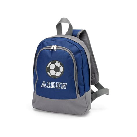 personalized preschool soccer backpack for boys monogrammed