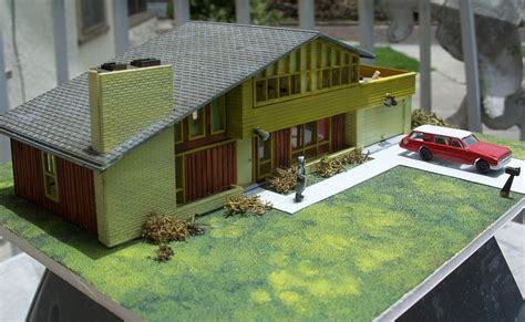 miniature homes models vintage ho scale house model kit assembled mid century