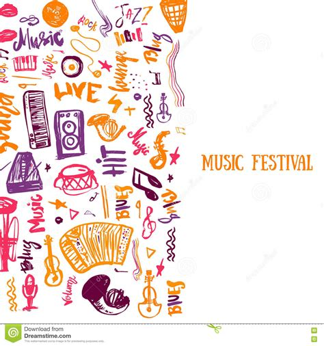 doodle event concert event doodle royalty free stock photo