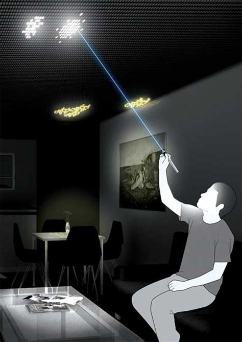 cool bedroom gadgets lightly artistic cool ceiling leds let you paint with