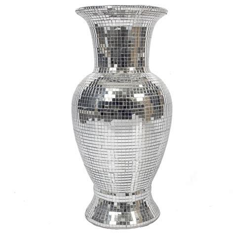 mirrored glass mosaic vase vase homesdirect