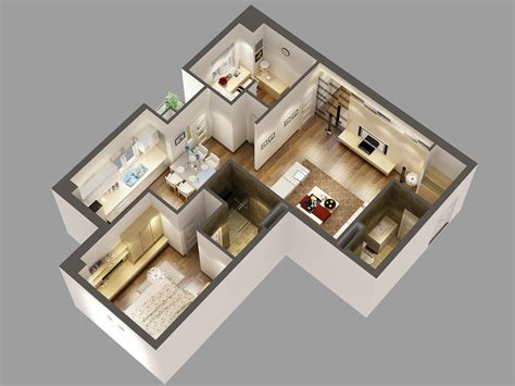 2d Floor Plan Software Free by Detailed House Cutaway 3d Model 3d Model Max Cgtrader Com
