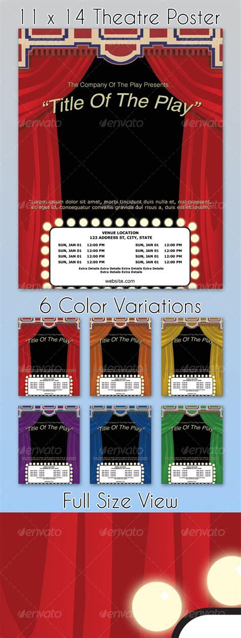 theatre poster template 6 colors graphicriver