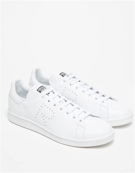 adidas by raf simons raf simons stan smith in white for lyst