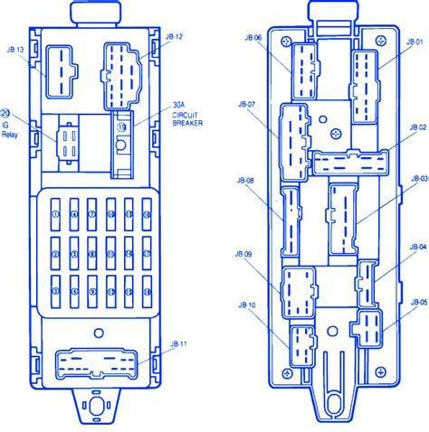 mazda 323 1990 fuse box block circuit breaker diagram