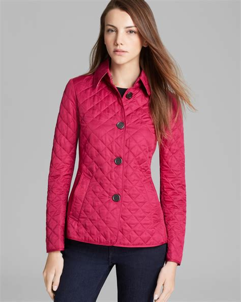 burberry brit copford quilted jacket in purple lyst