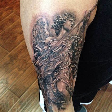 bernini sculpture tattoo black and grey statue