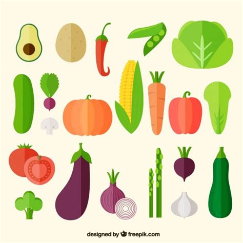 vegetables vector vegetables icons collection vector free