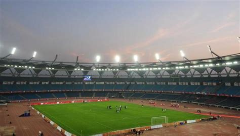 libro football grounds guide 2017 18 fifa u 17 world cup football ground at jawaharlal nehru stadium out of bounds other sports