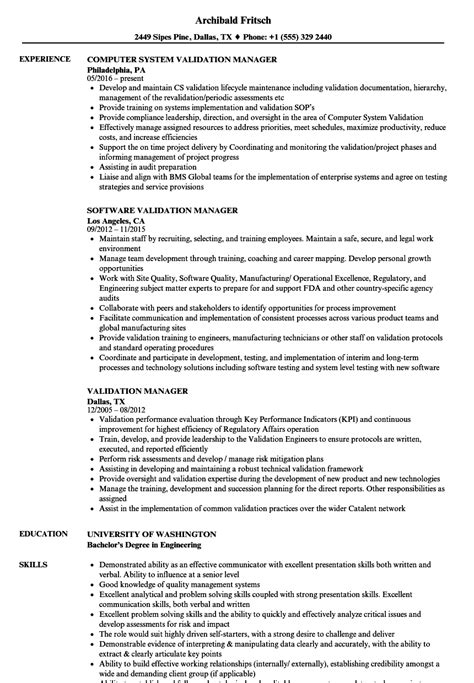 Validation Consultant Sle Resume by Validation Consultant Sle Resume Sles Of Covering Letter For Resume
