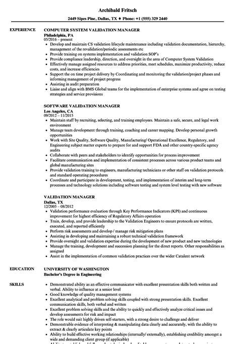 Validation Consultant Sle Resume validation consultant sle resume sles of covering letter for resume