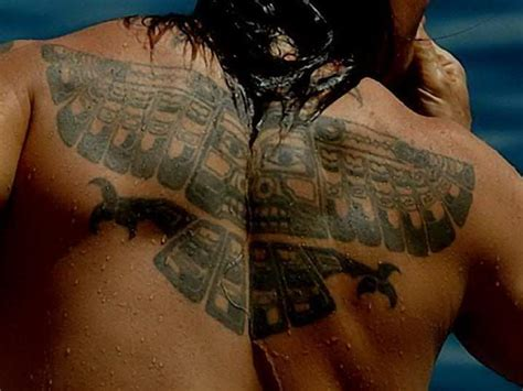 inca tattoo anthony kiedis back eagle falcon inca tribal