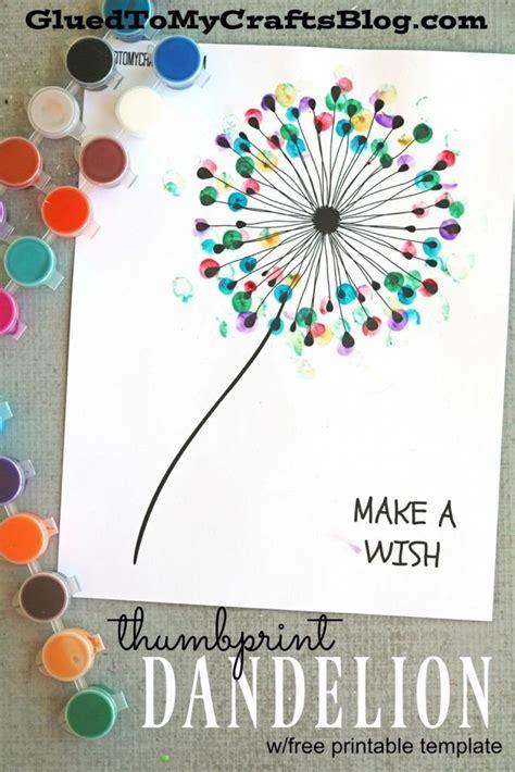 crafts for to make free thumbprint dandelion kid craft w free printable