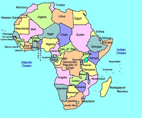 africa map song colorful printable africa map showing political